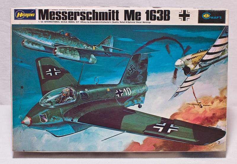 Hasegawa Messerschmitt Me 163B kit (appears to be complete)  At Robillard.
