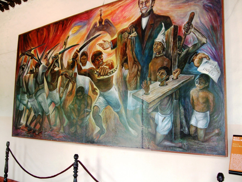 1821: Independence - Yucatan is part of Mexico 1847: Caste war- Mayan rise against their white and mestizo (mixed-race) rulers, continue until 1930 Museum's mural