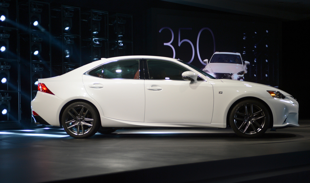 . The Lexus is350 f Sport is introduced at the 2013 North American International Auto Show in Detroit, Michigan, January 14, 2013. AFP PHOTO/Stan HONDASTAN HONDA/AFP/Getty Images