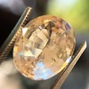 9.44ct Oval Peach Sapphire, with GIA No-Heat 3