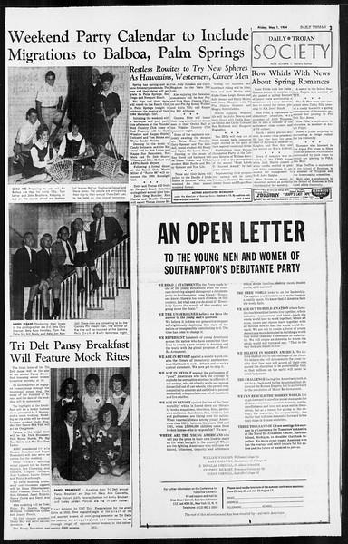 Daily Trojan, Vol. 55, No. 110, May 01, 1964