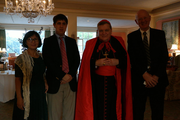 Dinner banquet with Cardinal Burke