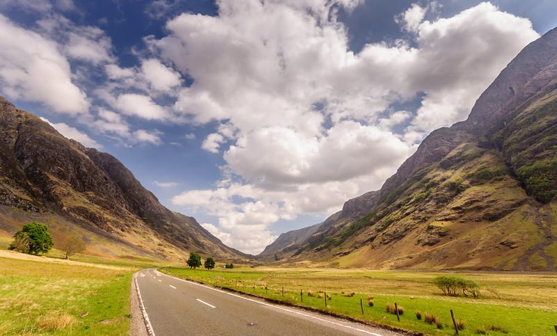 A82 road in Glen Coe