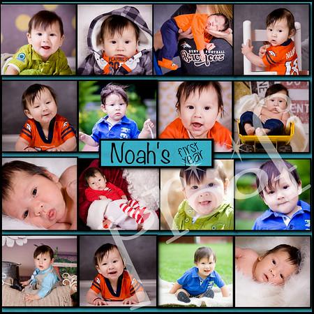 noahs birthday collage
