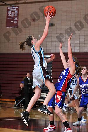 Girls JV Basketball- Mason at Okemos - Feb 8