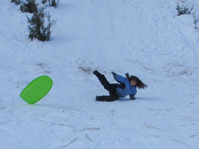 sledding at blewett pass