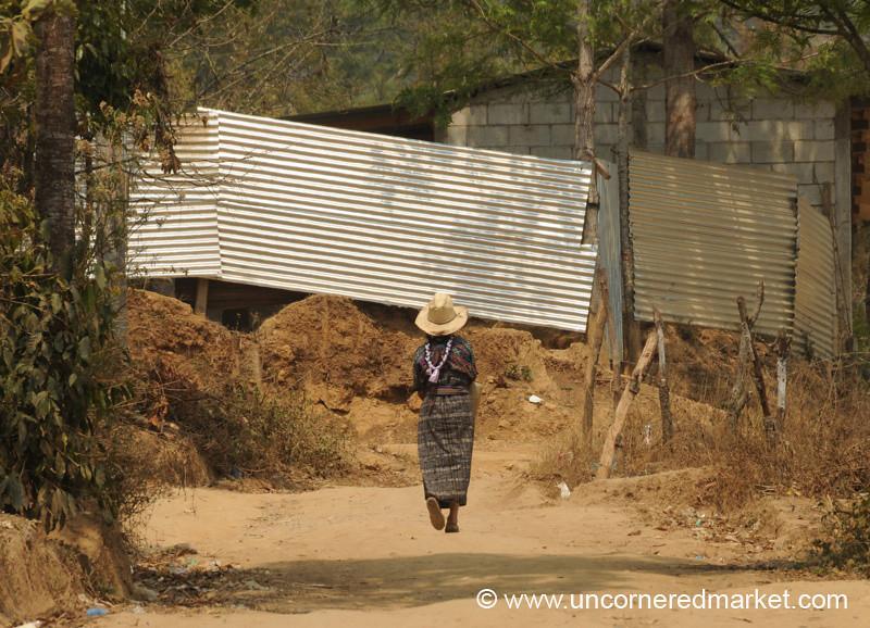 Woman Walking Home - Guatemala City, Guatemala