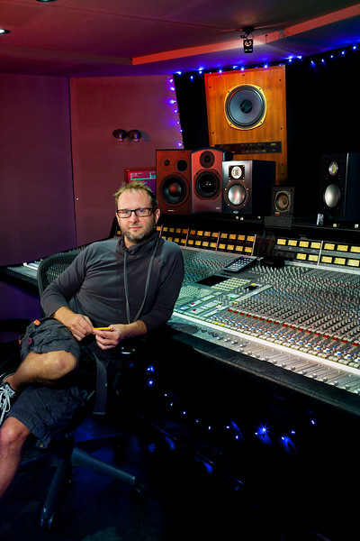 Record Producer Danton Supple in a recording studio    Watch Danton Supple's video interview:  http://www.recordproduction.com/record-producer-features/danton-supple-video640.htm