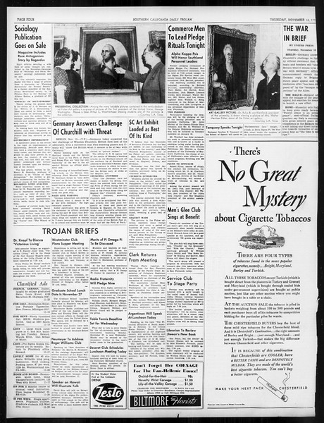 Daily Trojan, Vol. 31, No. 44, November 16, 1939