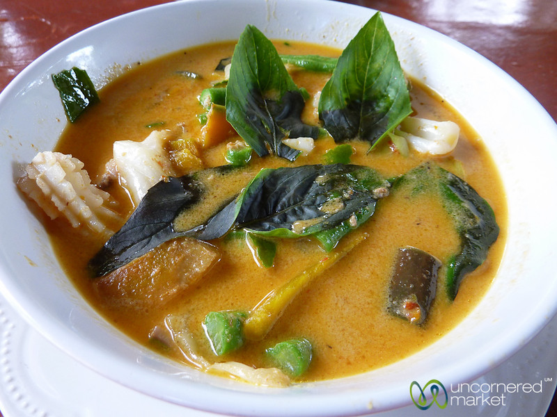 Squid, Fish and Pumpkin Red Curry - Koh Pha Ngan, Thailand