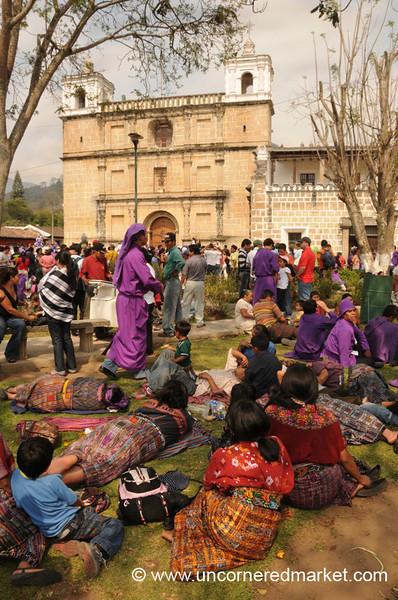 Semana Santa Relaxation in Park - Antigua, Guatemala