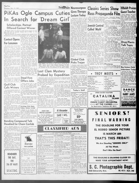 Daily Trojan, Vol. 40, No. 100, March 17, 1949