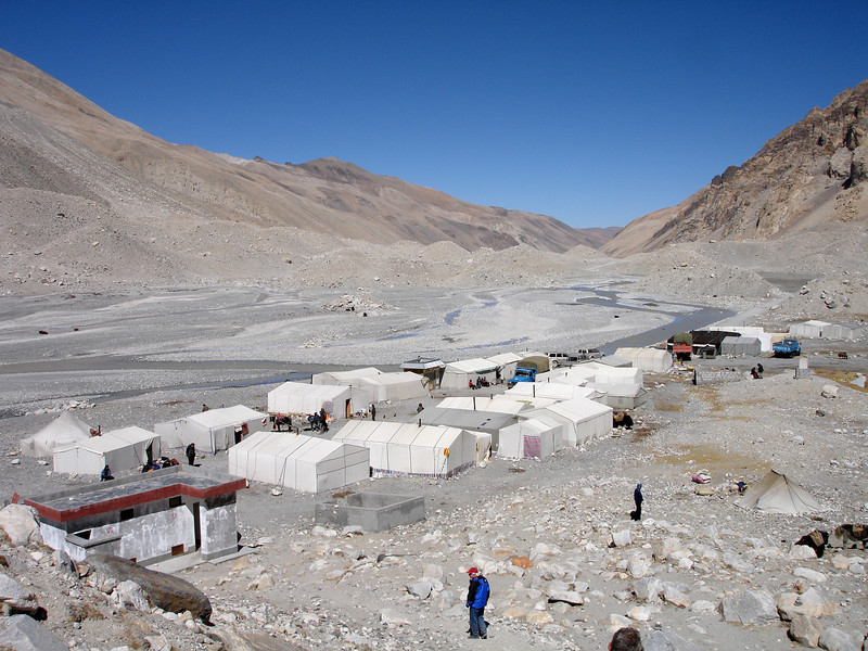 Base Camp at end of the climbing season - October
