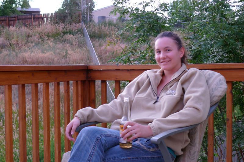 Juel In Colorado, on Jay & Donna's deck