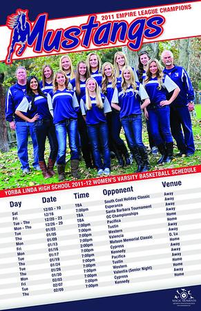 2011-12 YLHS Women's Basketball Poster