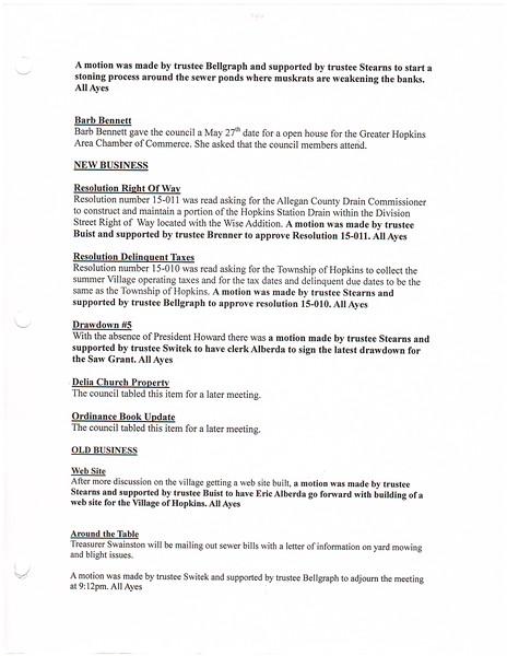May 2015 Meeting Minutes