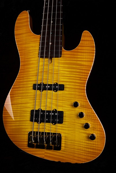 J5 Bass - Maple Top #3571, Lemon Burst, Grosh J5 pickups, Double J Bridge