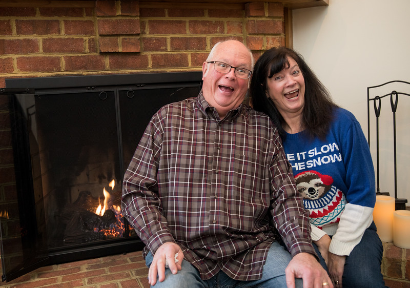 Mom and Dad Goofing by the Fireplace.jpg
