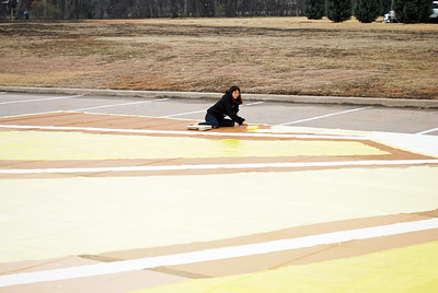 Winterguard Floor Painting - 26 Jan 2013