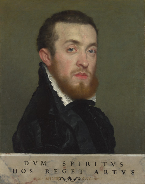 Bust Portrait of a Young Man with an Inscription