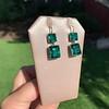 Georgian Double Drop Emerald Paste Earrings 23