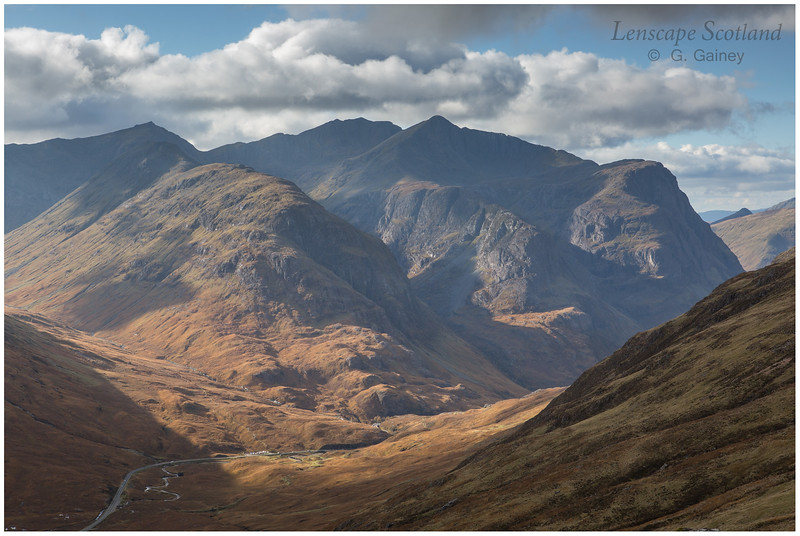 Glen Coe and Bidean nam Bian from Stob Mhic Mhartuin