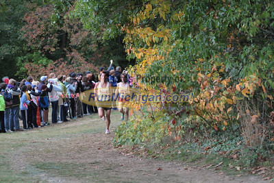 Boys Division 2 at 1 Mile & 1.5 Mile Marks - 2012 Portage Invite