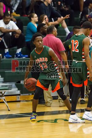 Jones Tigers @ Oak Ridge Pioneers Boys Varsity Basketball - 2016