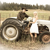 Outdoor wedding at Lakefork, Idaho.