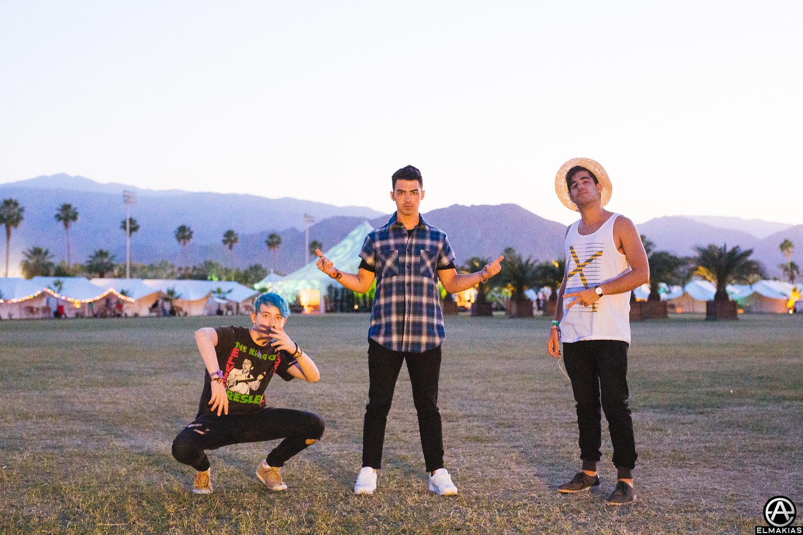 Frankie, Joe, Mike at Coachella