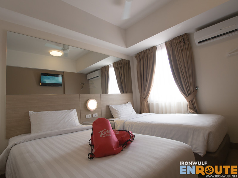 The Twin room at Tune Hotels CDO
