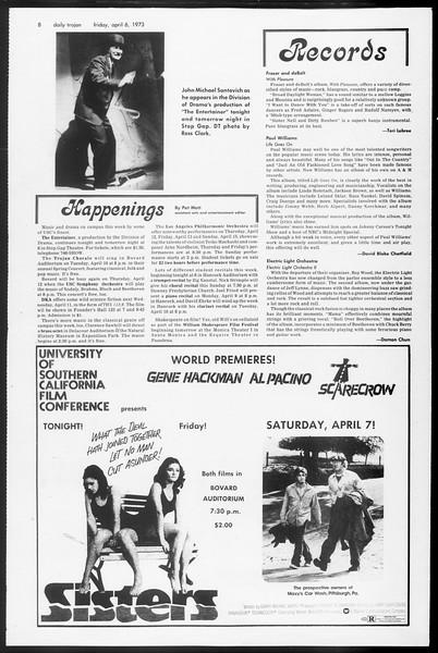 Daily Trojan, Vol. 65, No. 107, April 06, 1973