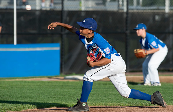 08/26/19 Wesley Bunnell   Staff The McCabe-Waters Astros defeated the Forrestville Dodgers 3-0 at Breen Field on Monday night in the city series to force a winner takes all on Wednesday. Aiden Lopez (21).