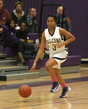 Lady Falcons lost to Sayreville Basketball, Jan 14, 2013