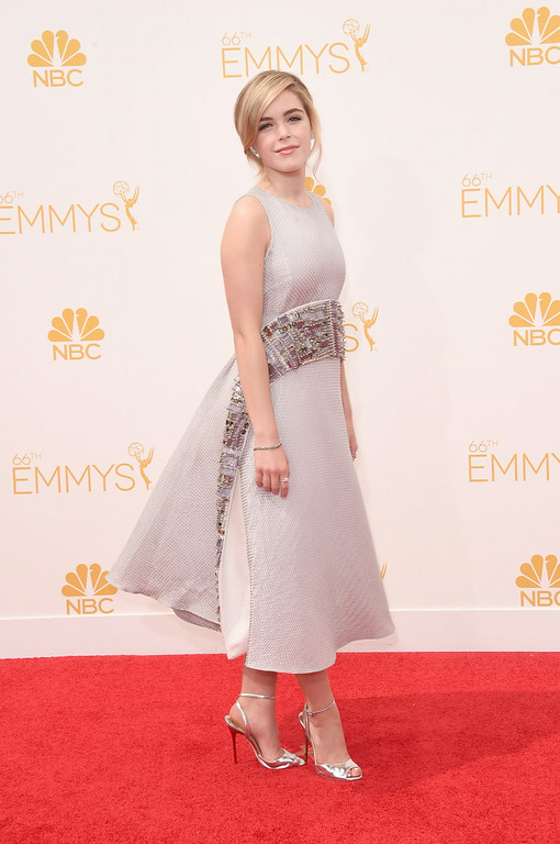 . Actress Kiernan Shipka attends the 66th Annual Primetime Emmy Awards held at Nokia Theatre L.A. Live on August 25, 2014 in Los Angeles, California.  (Photo by Jason Merritt/Getty Images)