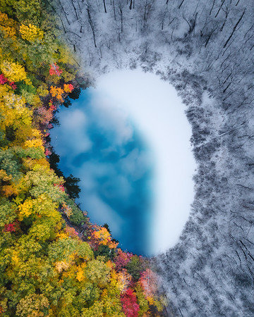 A window to the heavens above - Winter is taking over