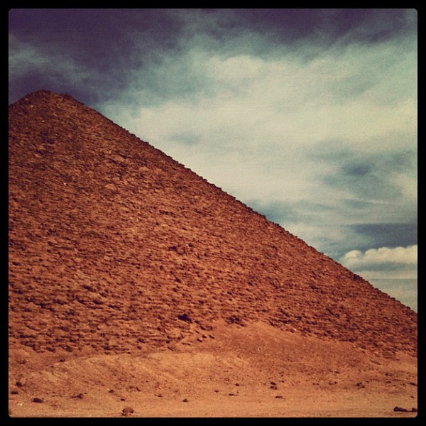Red Pyramid at Dahshur, #Egypt. Favorite pyramid of day. Had place to ourselves.