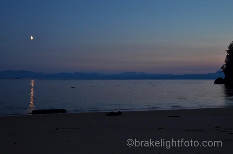 Moon over Milbanke Sound