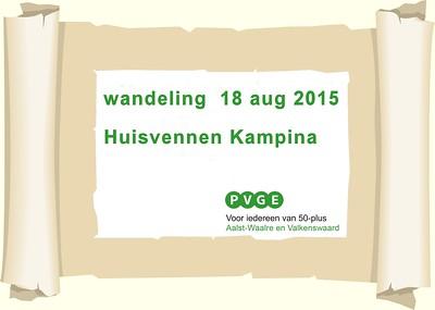 2015-0818 PVGE wandelen bij Kampina