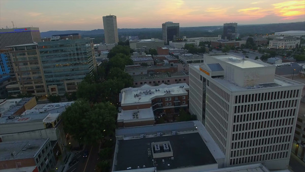 Aerial of Greenville South Carolina