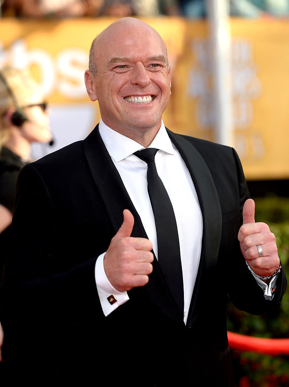 . Dean Norris arrives at the 20th Annual Screen Actors Guild Awards  at the Shrine Auditorium in Los Angeles, California on Saturday January 18, 2014 (Photo by Michael Owen Baker / Los Angeles Daily News)