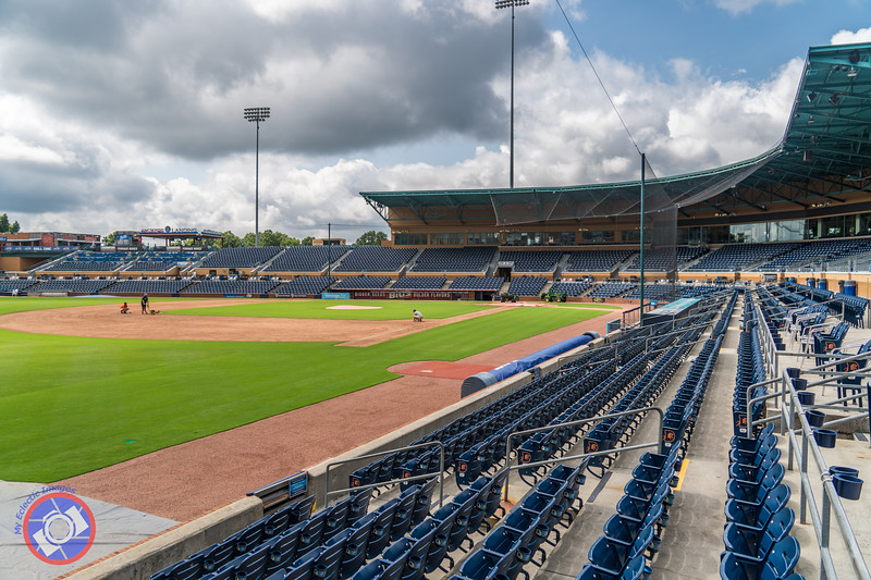 The Ball Field for the Durham Bulls (©simon@myeclecticimages.com)