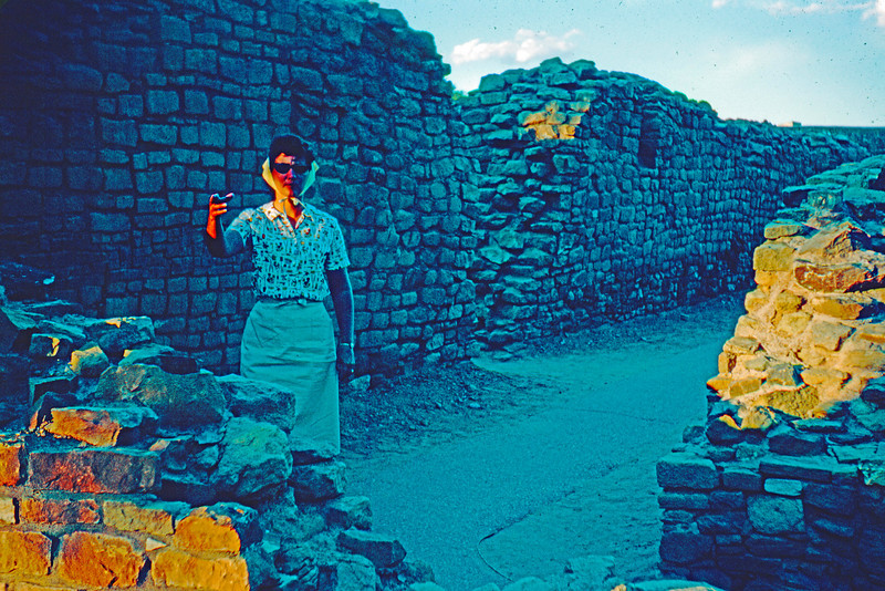1965-09 - Jo at Aztec Ruins (sorry for picture quality)