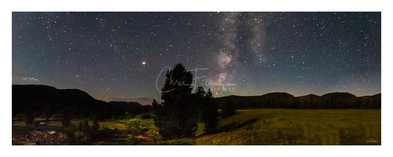 Milky Way over the East Forks Blacks Fork River