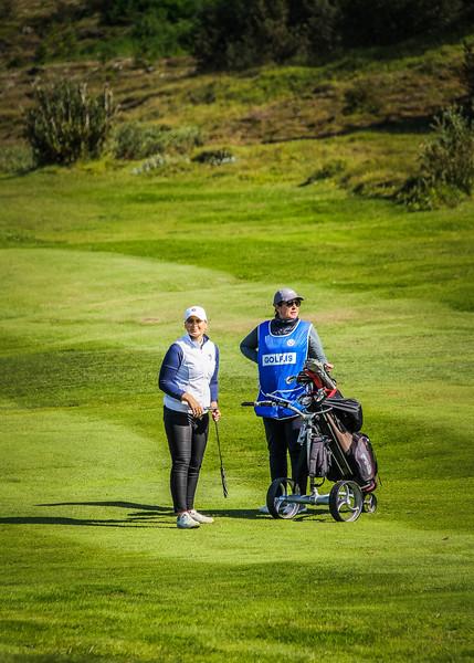 Helga Kristín Einarsdóttir.  Íslandsmót golf 2019 Grafarholt - 1. keppnisdagur. Mynd: seth@golf.is