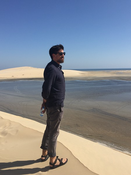 Study Leader Max Weiss takes in the view of the Inland Sea in Al Wakrah, Qatar - Bridget St. Clair