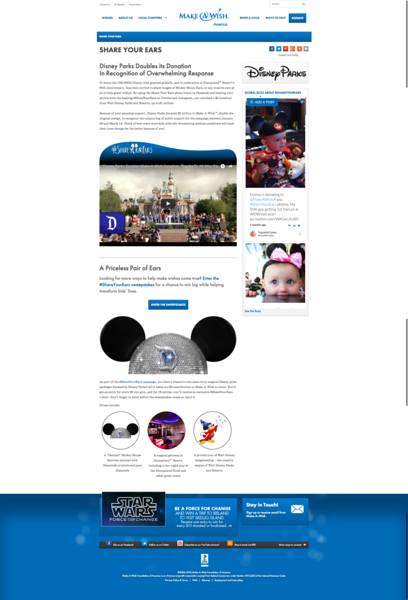 #ShareYourEars Disney Make A Wish