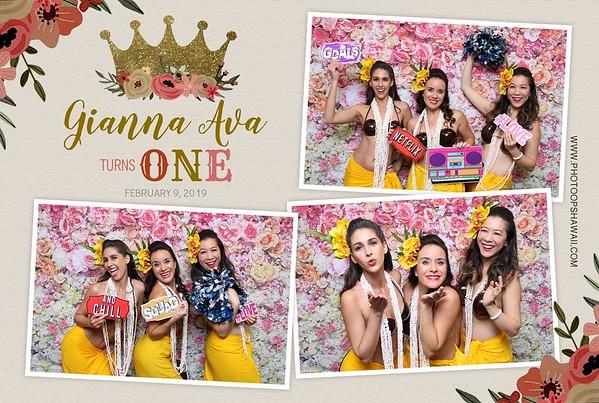 Gianna Ava's 1st Birthday (Photo Booth & Event Photos)