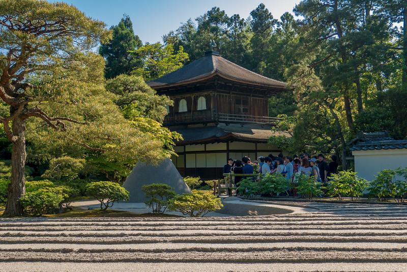 Ginkaku-ji Temple Silver Pavilion  in Kyoto, Japan.