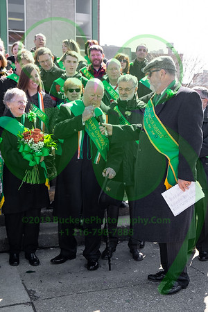2019 Cleveland Saint Patrick's Day Parade - Singing of the National Anthems and Step-off